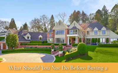 What should you NOT do before buying a home in Portland?