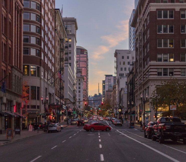 Pearl District of downtown Portland Oregon
