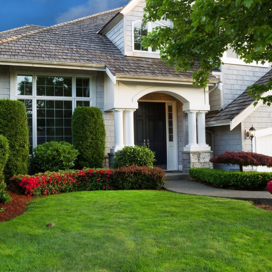 new construction home landscaping